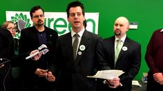 Manitoba Green Party Leader James Beddome unveiled his party's platform Tuesday morning in Winnipeg.