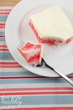 Skinny {Low-Fat} Cherry Poke Cake