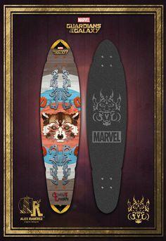 Penny Skateboard Rocket Raccoon (SVD)