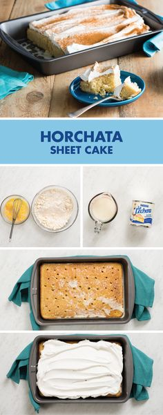 There's no better way to describe this Horchata Sheet Poke Cake recipe than moist and mouthwatering. Made with La Lechera Sweetened Condensed Milk, almond extract, cinnamon, and whipped topping, it's not hard to tell where this delicious dessert gets its traditional blend of flavors from!