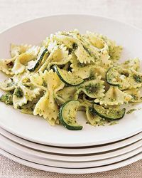 Farfalle with Zucchini and Parsley-Almond Pesto Recipe on Food & Wine