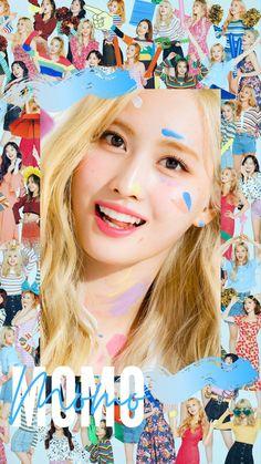 Twice Momo Wallpaper, Wallpaper Space, Wallpaper Ideas, Twice Fanart, Twice Album, Myoui Mina, Hirai Momo, Aesthetic Themes, My Baby Girl