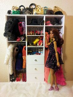 barbie closet...should be fairly easy to make one to scale for BJDs