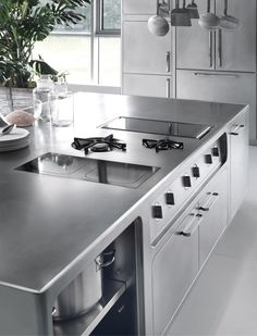 Professional stainless steel kitchen ABIMIS by @abimiskitchens