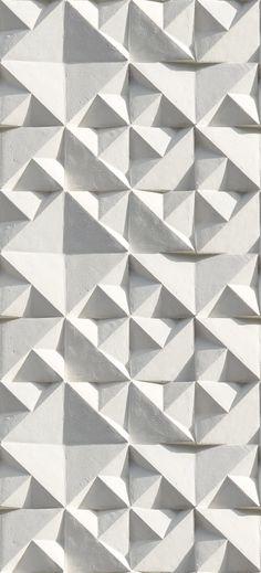 Geometric pattern gypsum
