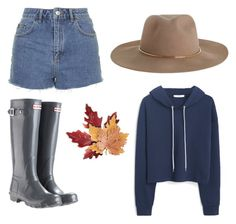 """Farm wear"" by macstevie on Polyvore featuring Topshop, Zimmermann, MANGO, Hunter and Croft & Barrow"