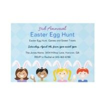 Easter Egg Hunt, Spring Picnic Party Invitations