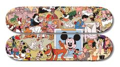 Disney Characters Have an Orgy on a Skateboard