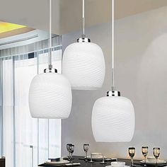 Decent Brief Pendant with White Shade (3 Light) – LightSuperDeal.com