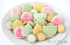 shabby chic cookies | Shabby Chic Tea Party Wedding Shower Mother's Day Flower Decorated ...