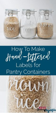 I love the look of these hand-lettered labels! They are so cute and SUPER easy to make!