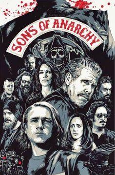 sons of anarchy mayhem line drawing - Google Search