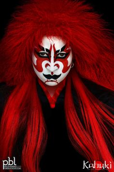 """Kabuki (歌舞伎 kabuki) is a classical Japanese dance-drama. Kabuki theatre is known for the stylization of its drama and for the elaborate make-up worn by some of its performers. The individual kanji characters, from left to right, mean sing (歌), dance (舞), and skill (伎). Kabuki is therefore sometimes translated as """"the art of singing and dancing."""" (from Wikipedia).  Photography by Eva Di Martino on Flickr"""