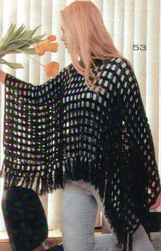 Our girls' vests and learn chic quilted gilets of top, generated to keep a person stylishly luke-warm on cold days. Crochet Cape, Crochet Poncho Patterns, Crochet Shawls And Wraps, Crochet Scarves, Crochet Clothes, Crochet Hooks, Diy Crafts Crochet, Mode Crochet, Poncho Shawl