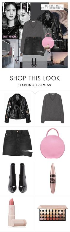 """With Him.."" by rainie-minnie ❤ liked on Polyvore featuring Zadig & Voltaire, Prada, Steve J & Yoni P, Mansur Gavriel, Yves Saint Laurent, Maybelline, Lipstick Queen and NYX"