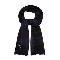 Queene and Belle Mackenzie plaid cashmere wrap ($599) ❤ liked on Polyvore featuring accessories, scarves, black multi, plaid shawl, tartan plaid shawl, beaded shawl, plaid scarves and tartan scarves