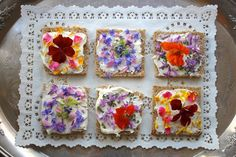 Beautiful #TeaSandwiches for a delightful #AfternoonTea. #GardenParty #EdibleFlowers