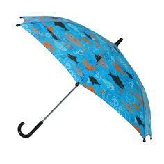 CTM® Kids' Shark Print Stick Umbrella