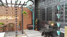 Copper garden at GENS METAL office Copper, Home And Garden, Patio, Metal, Outdoor Decor, Home Decor, Homemade Home Decor, Yard, Terrace