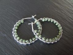 Peridot and sterling silver earrings. I think I need to make these in every color!