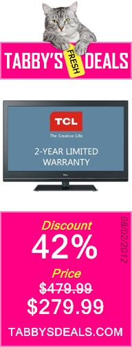 TCL L40FHDP60 40-Inch 1080p LCD HDTV with 2 Year Limited Warranty (Black) $279.99