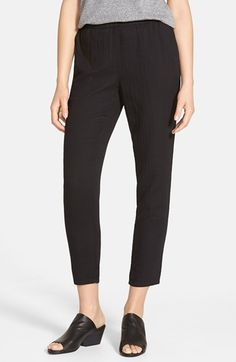 Eileen Fisher Tapered Organic Cotton Ankle Pants (Regular & Petite) available at #Nordstrom