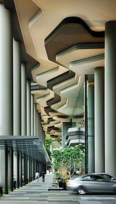 hotel kolonnen parkroyal hotel design in singapur
