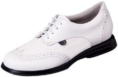 White & White Sparkles Sandbaggers Charlie Shimmer Ladies Golf Shoes! More stylish shoes at #lorisgolfshoppe