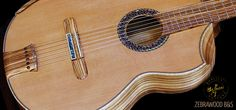 Zebrawood B&S, Cedar top Concert Classical Guitar