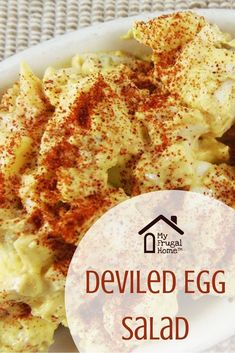 Mar 2020 - Like deviled eggs and egg salad? Then, you're going to love this simple deviled egg salad recipe. Keto Egg Salad, Deviled Egg Salad, Keto Deviled Eggs, Easy Egg Salad, Potato Salad With Egg, Easy Salad Recipes, Egg Recipes, Cooking Recipes, Diet Recipes