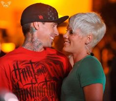 P!nk and husband Carey Hart...I want this haircut! I am on a mission!!!