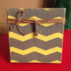 Distressed Wood Chevron Photo Frame with Twine Bow by DefinitelyDenise -$14