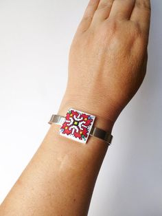 Embroidery Bracelets Ethnic boho bracelet for woman, Summer bohemian bracelet, Boho jewelry with Bulgarian embroidery, Cuff bohemian jewelry for birthday gift Embroidery Online, Embroidery Alphabet, Learn Embroidery, Vintage Embroidery, Embroidery Patterns, Butterfly Embroidery, Floral Embroidery, Ethnic Jewelry, Bohemian Jewelry