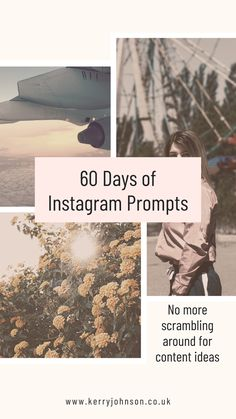 No more scrambling around for content ideas - 60 Days of Instagram Prompts can be used as a series or by picking out numbers at random. Suitable for personal accounts, bloggers, influencers and businesses. First Names, Prompts, Numbers, Social Media, Content, Random, Business, Instagram Posts, Ideas