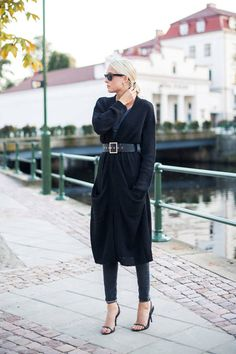Gina Tricot Black Knit Long Line Cardi weekend chic look