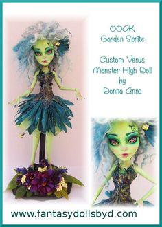 Custom OOAK Venus McFlytrao Monster High Doll by Donna Anne- July 2013