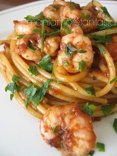 - Pasta with shrimp and squid sauce pasta rezept healthy pasta recipes Italian Pasta, Italian Dishes, Italian Recipes, Pasta Recipes, Cooking Recipes, Healthy Recipes, Seafood Dishes, Pasta Dishes, Pizza Und Pasta