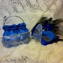 Mask and bag to wedding masquerade ball
