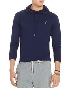 Polo Ralph Lauren Featherweight Pima Cotton Hoodie Tee Cruise Navy $109 FREE SHIPPING OR PICK UP
