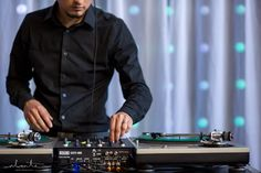 """DJ Cues of Bamboo Beats, spinning for Ravishing Radish Catering at the hip """"Artist Loft"""" at Hotel Max in Seattle. Photo by @alantephoto"""