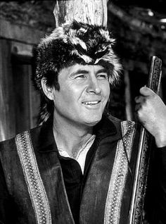 Fess Parker was Davey Crockett in Disney movies, and later Daniel Boone on TV
