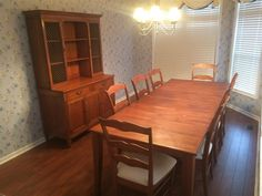 1 of 10 : Kindel Dining Room Set w/ Table, 2 Large Leaves, China Hutch, and 8 Chairs