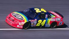 My favorite car paint scheme for my favorite driver Jeff Gordon.  Even though this will be his last season as a driver, he will always be a part of NASCAR!!!