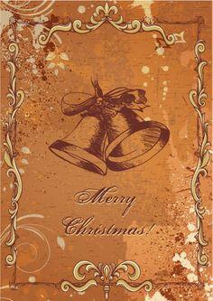 christmas vector illustration with bells Vector Graphics, Vector Art, Christmas Holiday, Xmas, Vector Background, Vectors, Image Graphic, Vintage World Maps, Frame Decoration
