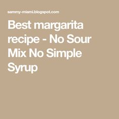 I love margaritas and have perfected the margarita without sour mix. Whenever I went out to restaurants, I always found the margaritas too . Easy Margarita Recipe, Margarita Drink, Margarita Salt, Margarita Recipes, Cocktails, Cocktail Drinks, Alcoholic Drinks, Mexican Food Recipes, Keto Recipes