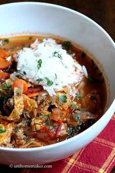 Turkey Stuffed Cabbage Soup