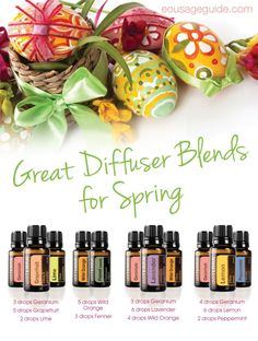 Great Diffuser Blends for Spring | Get started using doTERRA essential oils: http://www.weedemandreap.com/order-essential-oils
