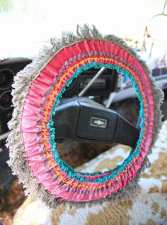 hippie highway steering wheel cover