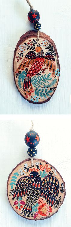Holiday ornaments by Dinara Mirtalipova #folkinspired #holiday #holidayornaments #folkillustration