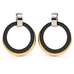 Marni Double-hoop drop clip-on earrings ($365) ❤ liked on Polyvore featuring jewelry, earrings, marni, clip earrings, clip on hoop earrings, clip on earrings and clip back earrings